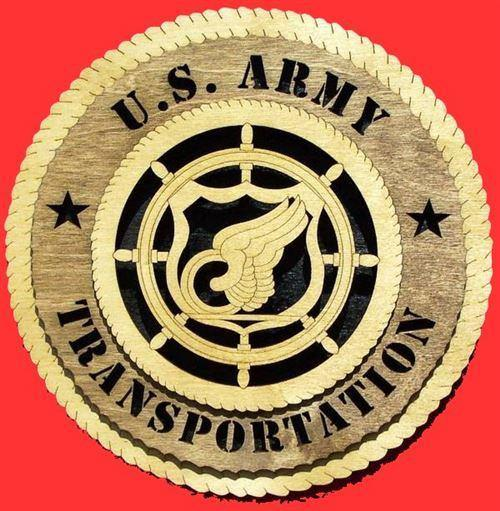 Laser Pics and Gifts:  TRANSPORTATION Military Plaque - Laser Pics & Gifts