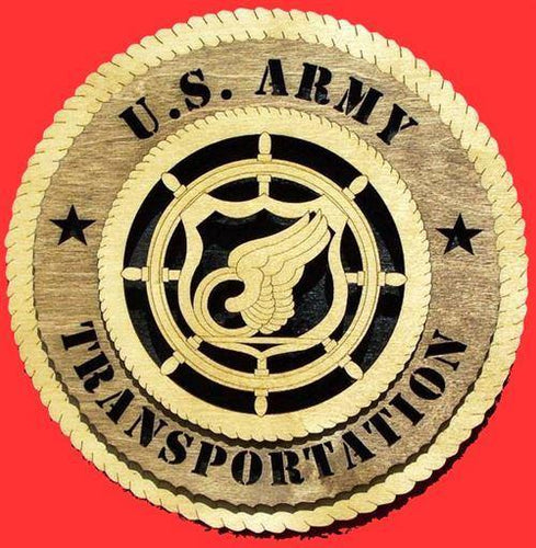TRANSPORTATION Military Plaque