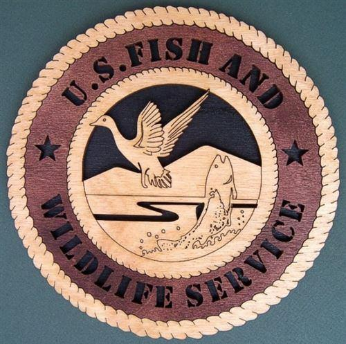 Laser Pics and Gifts:  U.S. FISH AND WILDLIFE SERVICE Professional Plaque - Laser Pics & Gifts