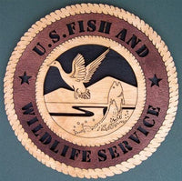"Laser Pics and Gifts: 12"" U.S. FISH AND WILDLIFE SERVICE Professional Plaque - Laser Pics & Gifts"