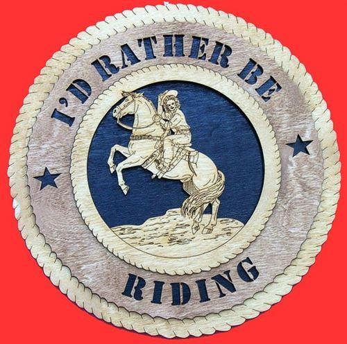 WESTERN FEMALE RIDER Plaque
