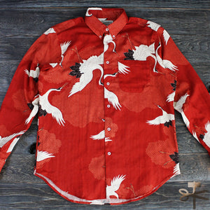 Japanese Crane in Red - Easy Shirt
