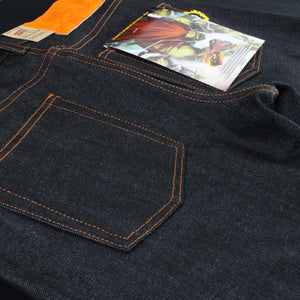 "Blanka ""Electric Surge"" Selvedge - Super Guy fit"