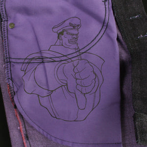 "M. Bison ""Psycho Power"" Selvedge - Weird Guy fit"