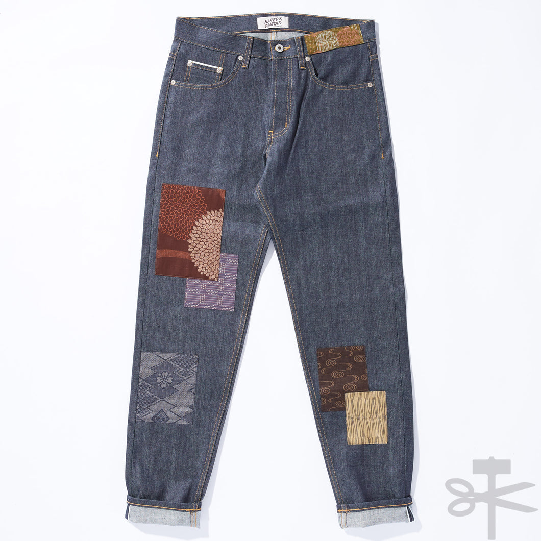 WHT Boro Patchwork Left Hand Twill - Easy Guy fit size 30