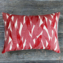 Pillow - Red Bamboo Leaf with Multi Pattern