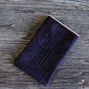 Card Pocket - Natural Indigo and Roughout