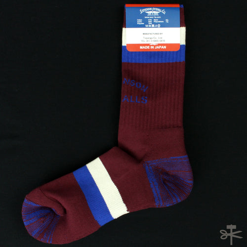 Stevenson Overall Co. Stevenson Branded Socks - Burgundy