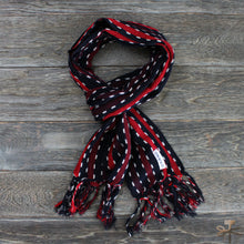 Scarf - Karu-Ori Red Stripes and Dash
