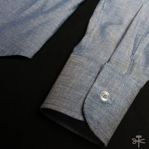 Blue Chambray Multi-color nep - Regular Shirt