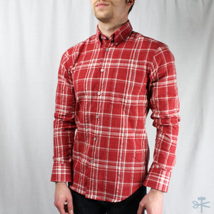 Faded Hemp Blend Plaid Red - Regular Shirt