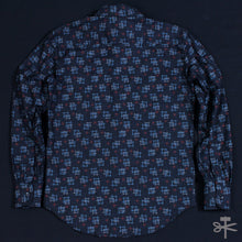 Kasuri Print - Black - Regular Shirt