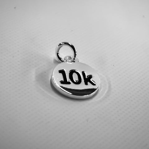 10k Silver Plated Disc Charm