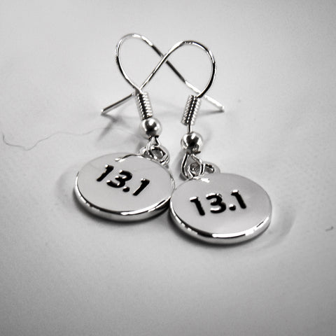 13.1 Silver Plated Disc Earrings