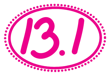 13.1 Oval Decal - Dots