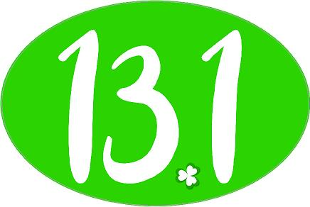 13.1 Oval Decal - Shamrock Dot