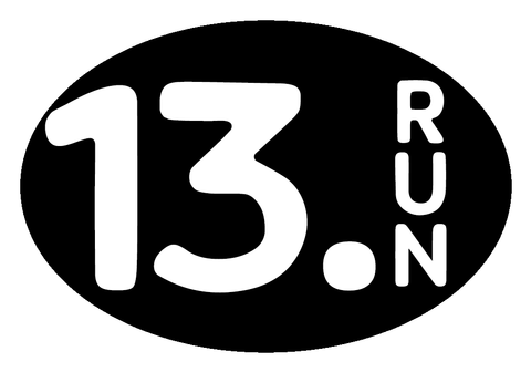 13.Run Oval Decal - Black