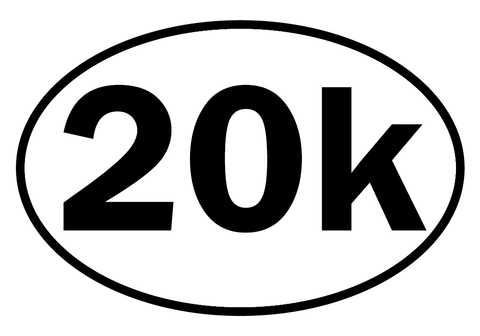 20k Oval Decal