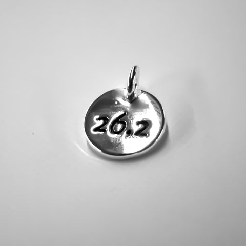 26.2 Silver Plated Disc Charm