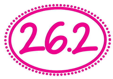 26.2 Oval Decal - Dots