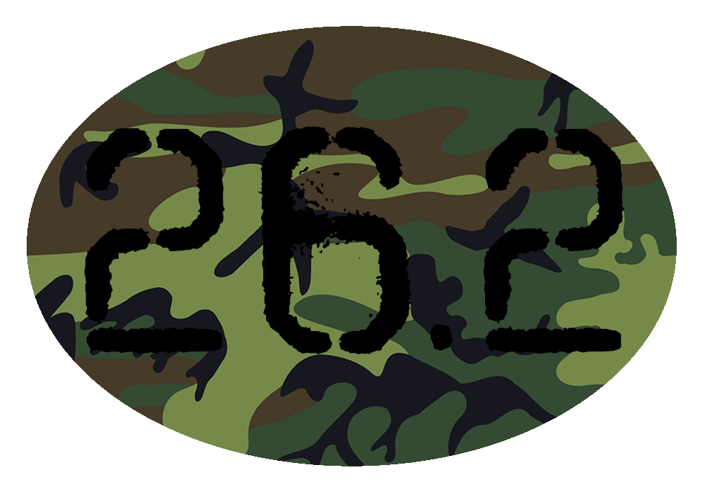 26.2 Camo Colored Oval Decal