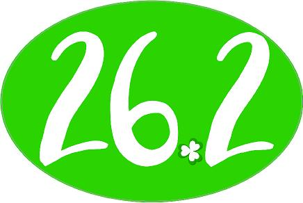26.2 Oval Decal - Shamrock Dot