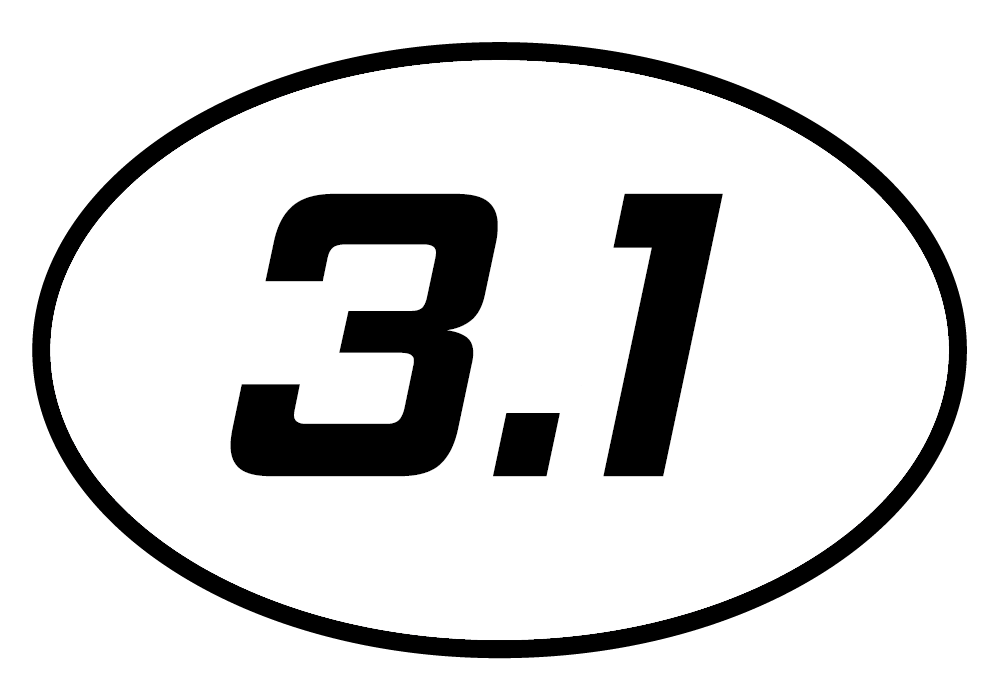 3.1 Oval Decal