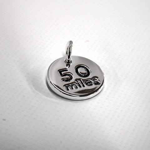 50 Mile Silver Plated Disc Charm