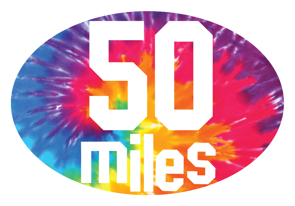 Tie Dye Miles Oval Decal (C)