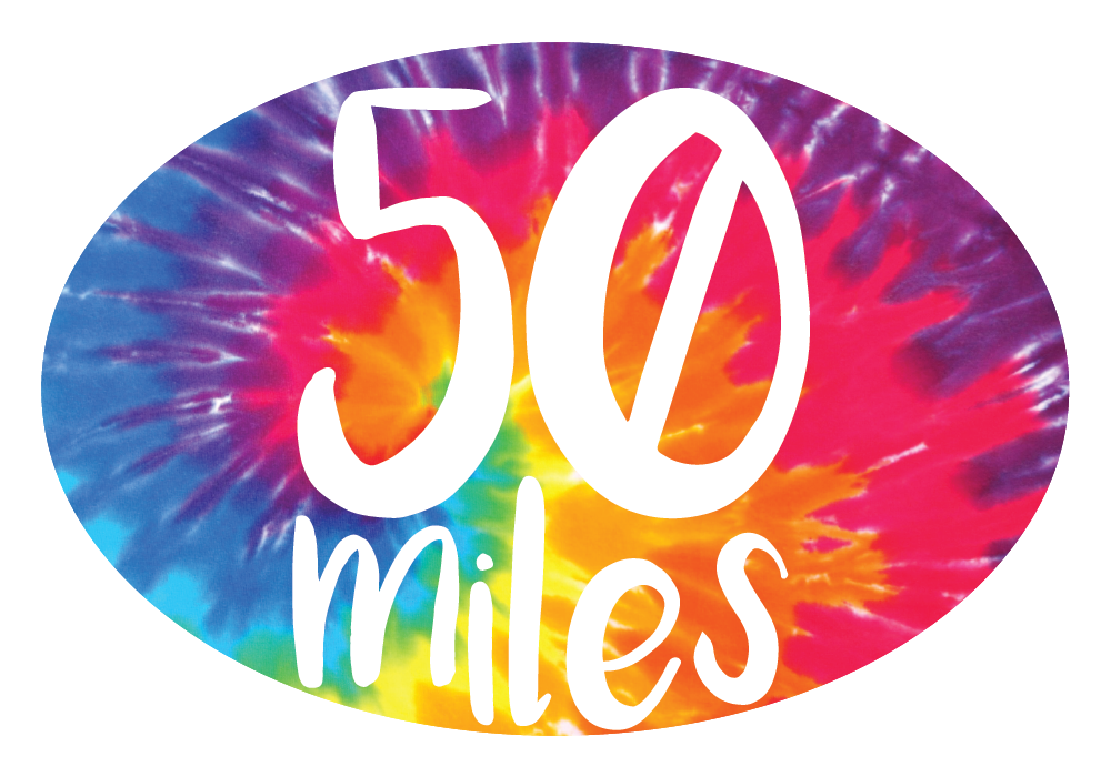 Tie-Dye Miles Oval Decal (L)