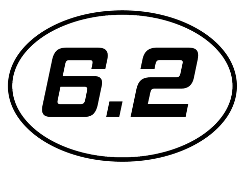 6.2 Oval Decal