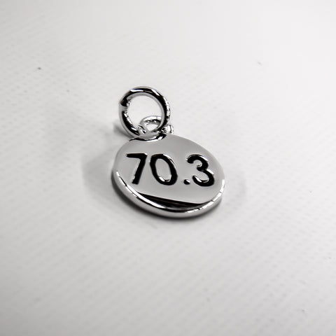 70.3 Silver Plated Disc Charm