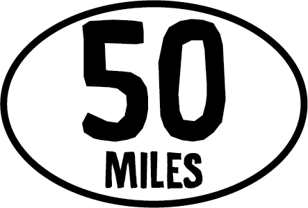50 Miles Oval Magnet (FT)