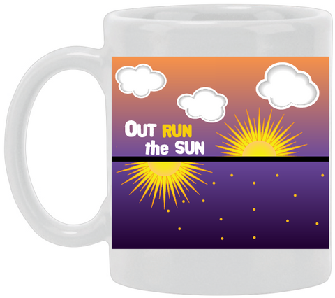 Out Run The Sun Ceramic Mug