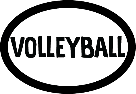 Volleyball Colored Oval Decal (F)