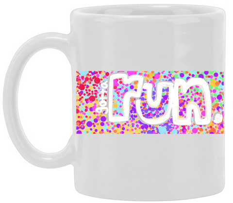 Gotta Run Dots Ceramic Mug
