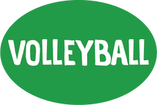 Load image into Gallery viewer, Volleyball Colored Oval Decal (F)