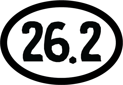 26.2 Oval Decal (F) - 11 Colors Available