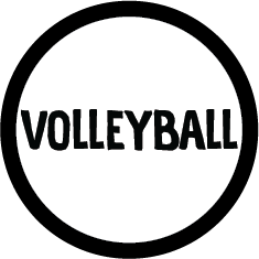 Volleyball Colored Round Decal (F)