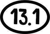 13.1 Oval Decal (F) - 11 Colors Available