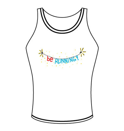 Be Running - Women's Singlet - White