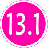 13.1 Colored Round Decal - Pink