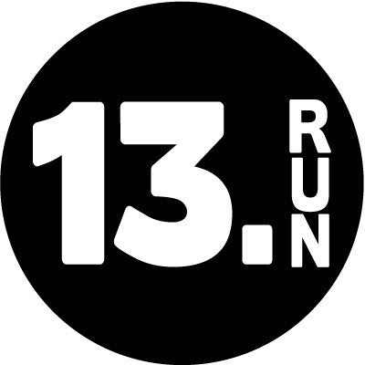 13.Run Colored Round Decal - Black