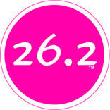 26.2 Colored Round Decal - Pink