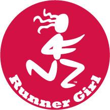 Load image into Gallery viewer, Runner Girl Colored Round Decal