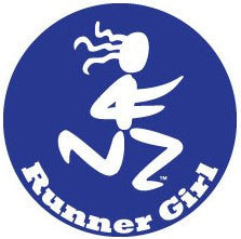 Runner Girl Colored Round Decal