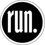 run. Colored Round Decal