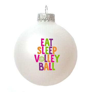 Christmas Ornament Eat Sleep Volleyball