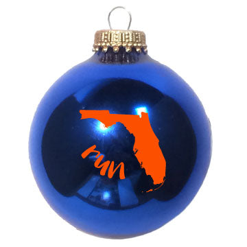 Florida State Outline Run Christmas Ornament