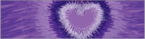 Headband - Tie-Dye Purple Heart